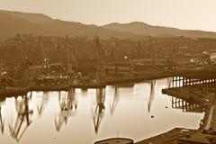abstrakt stadsindustri Royaltyfri Fotografi