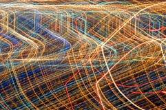 abstrakt stadslampor Arkivbilder