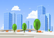 abstrakt stadsvektor Royaltyfria Bilder