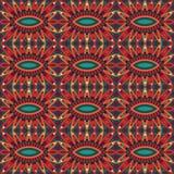 Abstrakt stam- etnisk sömlös modell Royaltyfri Bild