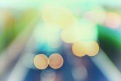 abstrakt stil - Defocused pastellfärgade huvudvägljus Royaltyfria Bilder