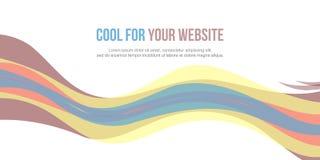 Abstrakt stil för titelradwebsitedesign Arkivbild