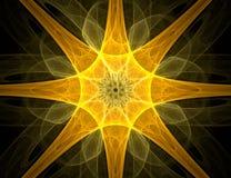 abstrakt stjärna för bakgrundsdesignfractal Arkivfoton