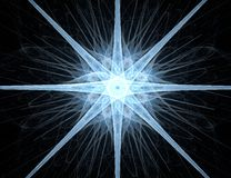 abstrakt stjärna för bakgrundsdesignfractal Arkivfoto