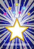 Abstrakt stjärnabristningsbakgrund Royaltyfria Bilder