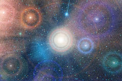 Abstrakt stjärnahimmelbakgrund Royaltyfria Bilder