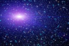 Abstrakt stjärnahimmelnebulosa Arkivfoto