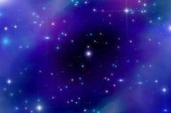 Abstrakt stjärnahimmelnebulosa Fotografering för Bildbyråer