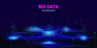 Abstrakt stor Visualization för data 3D vektor illustrationer