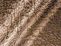 abstrakt strömkrets stock illustrationer