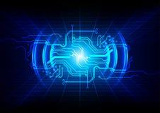 Abstrakt strömkretsdesign, bakgrund för digital teknologi Illustra Royaltyfri Fotografi