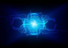 Abstrakt strömkretsdesign, bakgrund för digital teknologi Illustra Arkivfoto