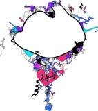 abstrakt strömtorn royaltyfri illustrationer