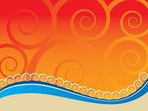 abstrakt strand Royaltyfri Bild