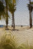 Abstrakt strandskott till och med fönsterskärmen Arkivfoto