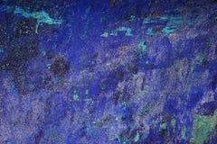 Abstrakt strimmig bakgrund för spräcklig målarfärg för blått och för turkos horisontal Royaltyfria Bilder