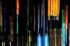 Abstrakt stubarwni miast świateł promienie w ruchu, Poruszający col Fotografia Stock