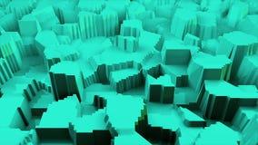 Abstrakt stylizujący teren 3d powierzchni nowożytny model, 3d odpłaca się tło, komputerowy wywołujący tło ilustracji