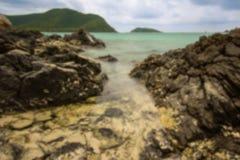 Abstrakt suddig bakgrund av havet, suddigt begrepp Fotografering för Bildbyråer
