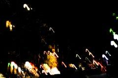 Abstrakt suddig bakgrund med vägljus i rörelse royaltyfria bilder
