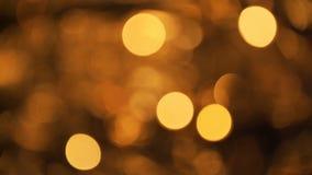 Abstrakt suddig Bokeh för julljus bakgrund Blinka för blinkajulgranljus Begrepp för vinterferier stock video