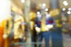 Abstrakt suddig bokehbakgrund av shoppinggallerian Royaltyfri Bild