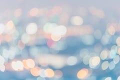Abstrakt suddig bokehbakgrund för mjukt ljus, pastellfärgstyl Royaltyfri Bild