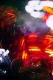 Abstrakt suddig färgrik bakgrund för julbokehhjärta Arkivfoton