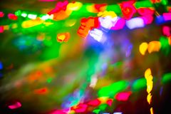 Abstrakt suddig färgrik bakgrund för julbokehhjärta Arkivbild
