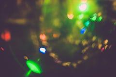 Abstrakt suddig färgrik bakgrund för julbokehhjärta Arkivbilder