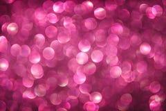 Abstrakt suddig ljus rosa Bokeh bakgrund Royaltyfri Foto