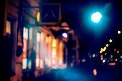Abstrakt suddig mystikerplats för natt Arkivfoton