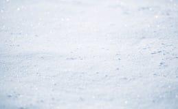 Abstrakt suddig solig snötexturbakgrund Arkivfoto