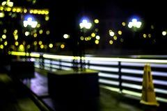 Abstrakt suddig stad för natt Royaltyfri Foto