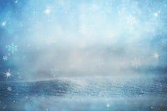 Abstrakt suddig vintersäsongbakgrund Royaltyfria Bilder