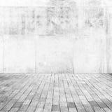 Abstrakt suddig vit tom inre Arkivfoton