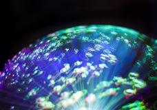 Abstrakt suddighet av ljus för fiberoptik Arkivbilder