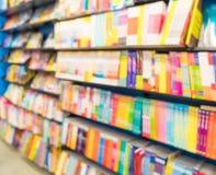abstrakt suddighet i bok shoppar Arkivfoto