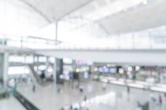 abstrakt suddighet i flygplats Arkivbilder