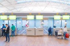 abstrakt suddighet i flygplats Arkivfoto