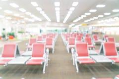 abstrakt suddighet i flygplats Royaltyfri Foto