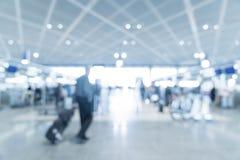 abstrakt suddighet i flygplats Arkivfoton