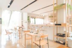 Abstrakt suddighet i kafé Fotografering för Bildbyråer