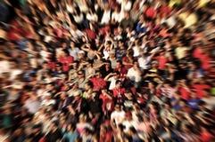 Abstrakt suddighetsbakgrund av folkmassan av folk Royaltyfri Bild