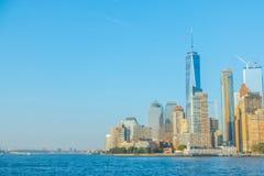 Abstrakt suddighetsManhattan horisont, New York City USA Arkivbild