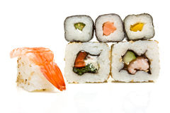 abstrakt sushi Arkivbilder