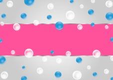 Abstrakt sv?va bl?a och vita bubblor i Gradated Gray Background vektor illustrationer