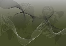 abstrakt svart översiktstwistwhite Royaltyfria Bilder