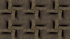Abstrakt svart bakgrund med den guld- modellen, rasterbild för th Fotografering för Bildbyråer