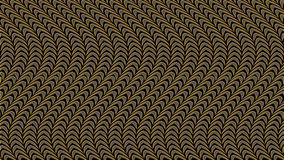 Abstrakt svart bakgrund med den guld- modellen, rasterbild för th Arkivbild